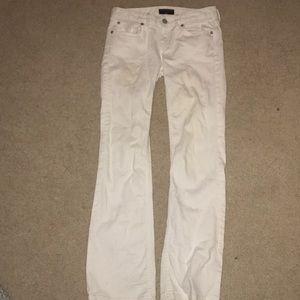 White denim banana republic jeans